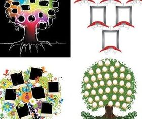 Cartoon tree set vector
