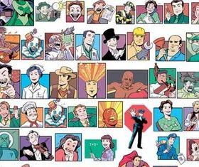 Different Cartoons People vector