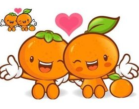 Super love cartoon fruit shiny vector