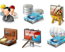 Web Design Icons shiny vector