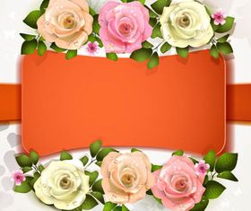 Backgrounds with Roses 3 vector