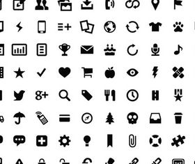 Different Silhouette Icons vector