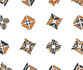 Different Orange Logo set vector