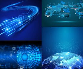 Shiny Network Backgrounds art vectors
