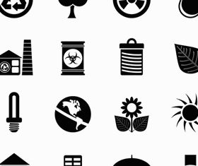 Silhouette Eco Icons 2 vector material