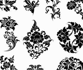 Ornate Floral Elements vectors graphic