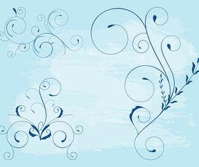 Swirling Flower Stems vector
