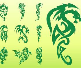 Dragon Tattoo graphic vector