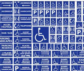 Different Parking Symbols art vector