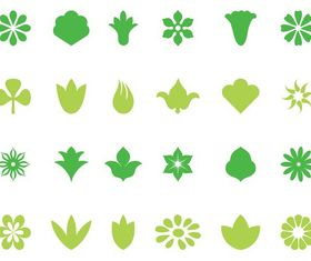 Floral Icons free vector
