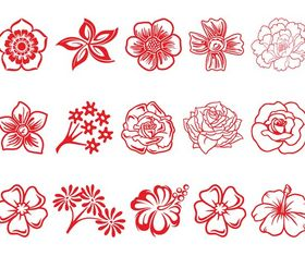 Flower Blossom Set vector material