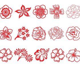 Flower Blossom Set vector material