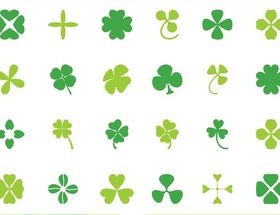 Clover Leaves design vector