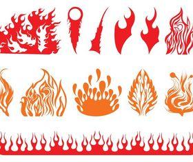 Fire Graphics Set creative vector