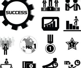 Business Icons Mix 2 vectors graphic