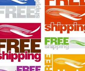 Delivery Bright Symbols vectors material