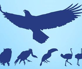 Birds Silhouettes Set vector