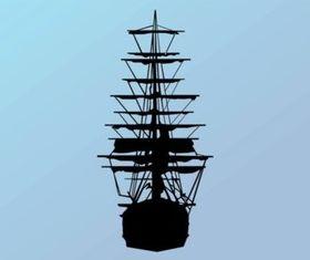 Ship Silhouette design vectors