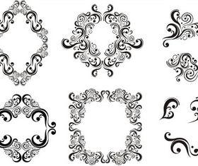 Stylish Vintage Frames 21 shiny vector