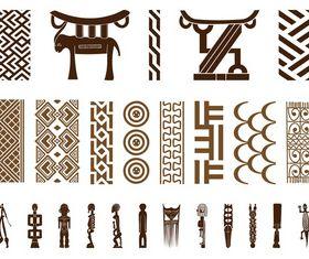 African Symbol Set vector