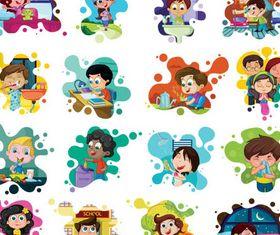 Happy Kids graphic vector