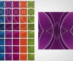 Colorful Tiles set vector