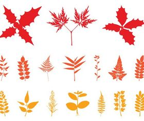 Autumn Leaves Silhouettes art vectors graphics
