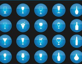 Drinks Icons free vector