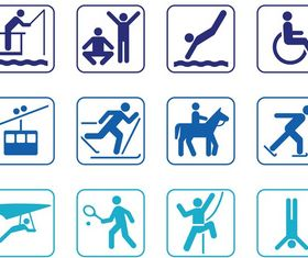 Person Symbol Set vector
