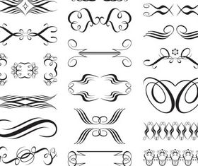 Ornate Swirl Elements 9 vectors