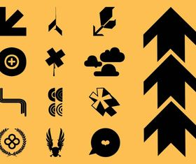 Cool Icons Set vector graphic