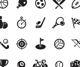 Sport Black Icons vector