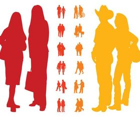 People In Couples free vector