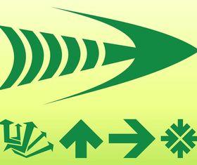 Green Arrows Graphics vector graphic