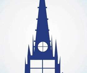 Church Building Graphics art vectors