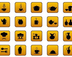 Food And Drinks Icons Set vector