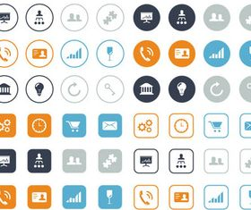 Different Flat Icons 13 vector