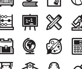 School Black Icons graphic design vectors
