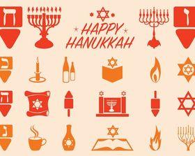 Hanukkah Graphics Set design vectors