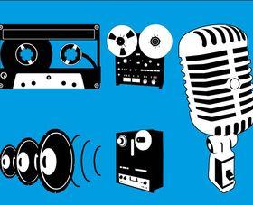 Audio Equipment Graphics art vector