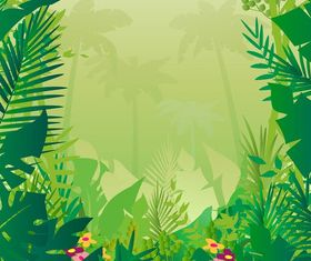 Jungle Background graphic vector