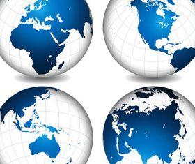Shiny Globes Symbols vector