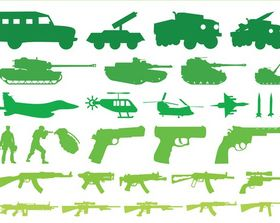 Military Vehicles Weapons Graphics vector