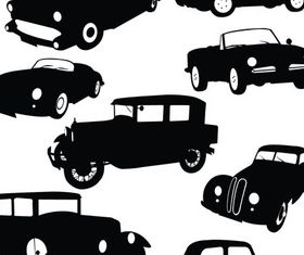 Silhouette Retro Cars vector