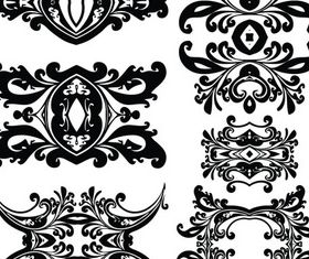 Ornate Swirl Elements 8 vector