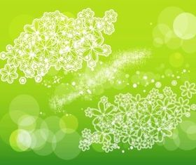 Flowers And Scribbles vector