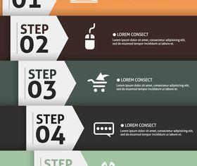 Stylish Step Backgrounds 3 vectors graphics