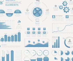 Web Blue Infographics Elements vector