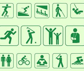 Person Symbols vectors graphics