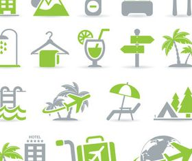 Different Travel Icons art creative vector